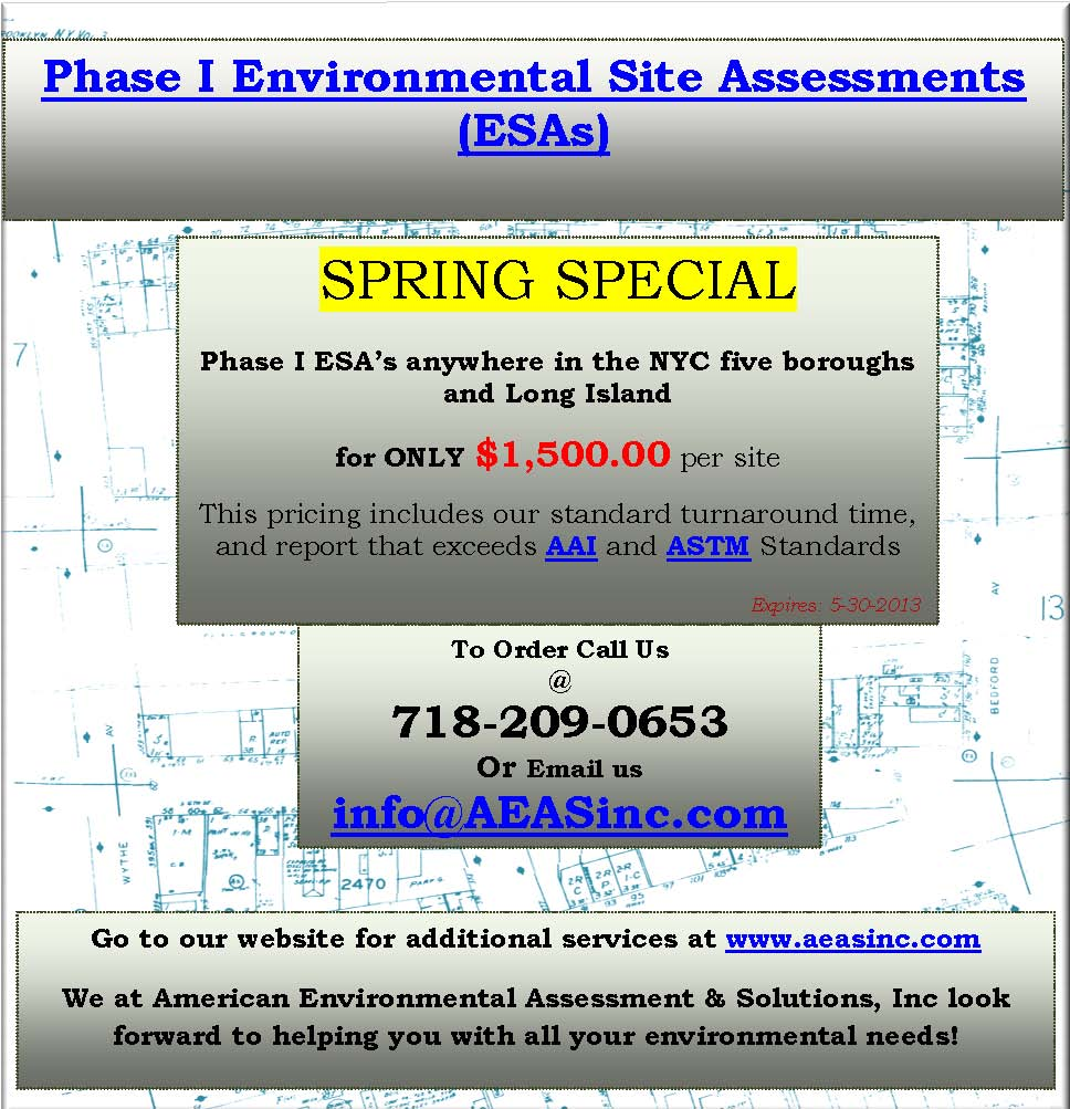 Phase I Report, environmental due diligence